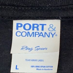 Port and Company Shirts - VINTAGE 1978 T-Shirt Retro Large Black Graphic